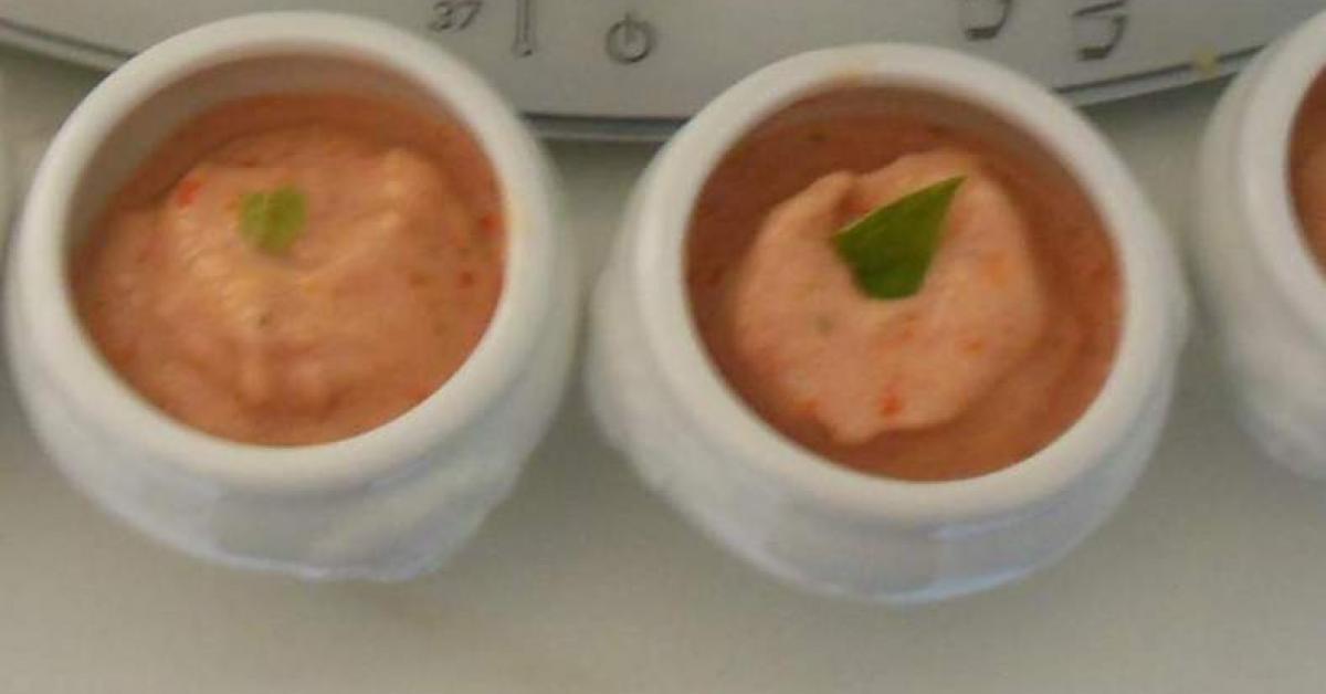 verrines de sorbet tomates cerises basilic par nini3906 une recette de fan retrouver dans la. Black Bedroom Furniture Sets. Home Design Ideas