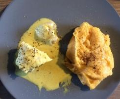 Queue de lotte sauce curry et sa purée de patates douces