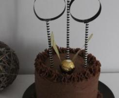 Layer cake vanille et chocolat façon Quidditch - Harry Potter