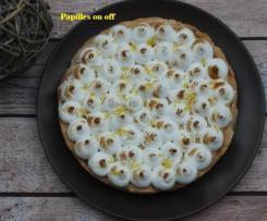 Tarte au citron meringuée et confit de myrtilles