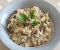 Risotto saucisse Morteau et champignons