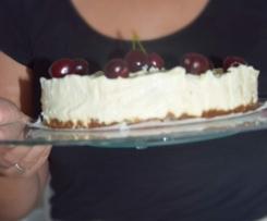 Cheesecake léger spéculoos chocolat blanc et cerises