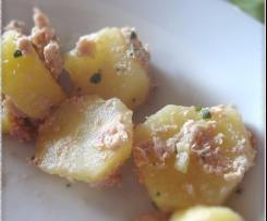 Thon blanc au naturel, pommes de terre à l'huile