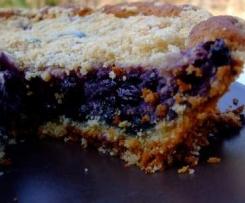 Gâteau crousti-moelleux aux myrtilles