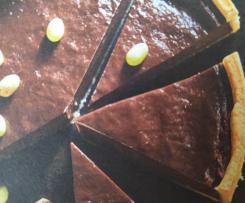 Flan au chocolat pour Pâques