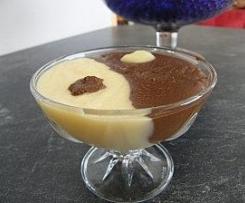 Crème duo vanille chocolat régime light
