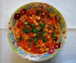 Coco de Paimpol aux tomates et poivrons