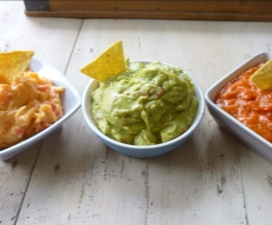 3 SAUCES POUR TORTILLAS CHIPS OU CRUDITES