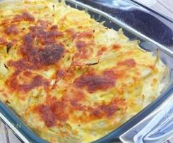 Tartiflette patate douce, pommes de terre et fenouil