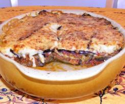 Véritable moussaka bechamel au fromage de brebis