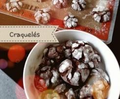 CRAQUELES AU CHOCOLAT ( CHOCOLATE CRINKLES)
