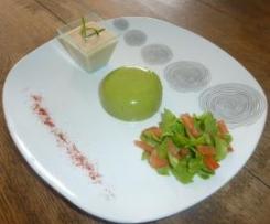 Bavarois de courgettes mentholé sauce au thon