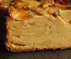 Gateau invisible aux pommes sans gluten ni  lactose