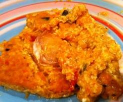 Omelette sans oeufs aux légumes