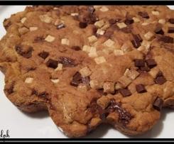 cookie géant chocolat blanc et noir