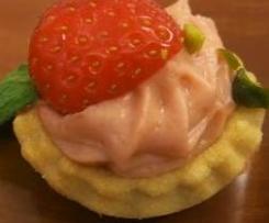 Tartelette fraise rhubarbe