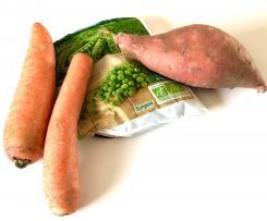 puree patate douce carotte petits pois
