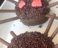 Araignées Cup cake au chocolat d'Halloween