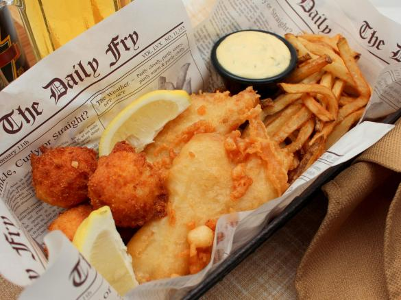 Fish and chips par damarco une recette de fan retrouver for Terrace fish and chips
