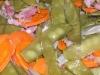Pois mange-tout aux carottes et lardons