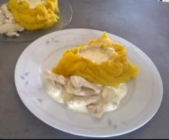 puree de potiron/pommes de terre bien ferme