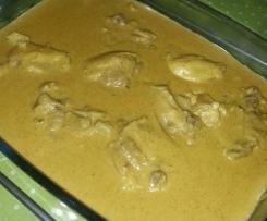 Variante de haut de cuisse de poulet sauce curry