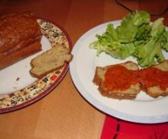 cake au thon et son coulis de tomate