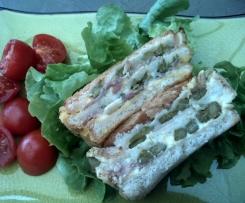 croque-cake aux asperges et jambon