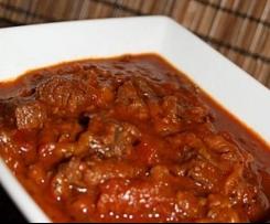 Boeuf à la sauce tomate