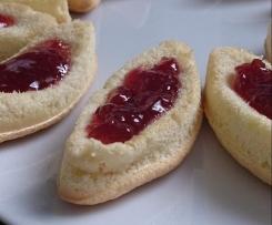 Petites barquettes fraises, framboises, pâte à tartiner