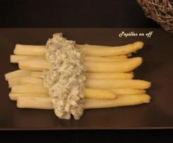 Asperges blanches sauce tartare