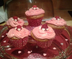 cupcakes coeur framboise et yaourt