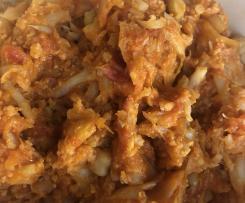Écrasé de choux-fleur à la tomate et au curry