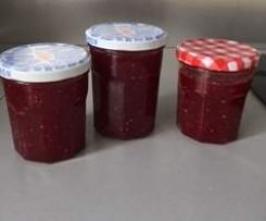 Confiture fraises et framboises