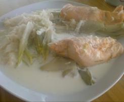 saumon endive et riz