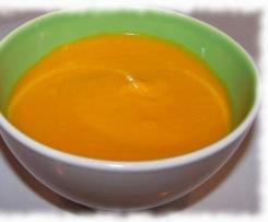 velouté orange (potimarron lentilles corail carottes et curcuma )