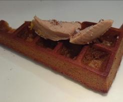 Gaufres aux épices et foie gras