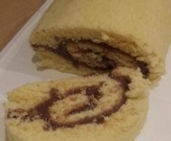 gâteau roulé à la pâte à tartiner chocolat amande
