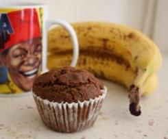 MUFFINS VEGAN Okara-banane aux pépites de chocolats (sans gluten/sans lait/sans oeufs/sans sucre)