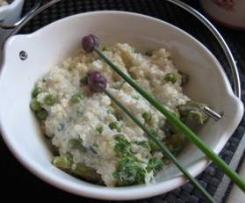 Risotto de printemps asperges vertes et petit-pois (recette à bas indice glycémique)
