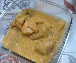 Curry de joues de lotte et saumon