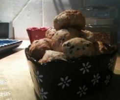 Biscuits apéritifs soufflés au fromage et origan