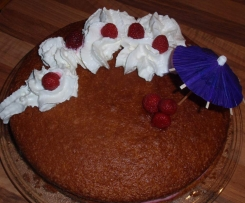 Gâteau moelleux pistache/framboise