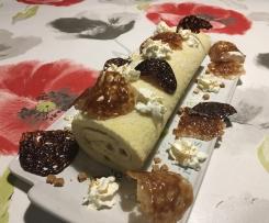 Bûche à la crème de caramel au beurre salé