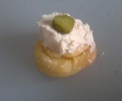 Mini choux à la mousse de jambon blanc