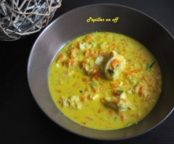 Curry de cabillaud