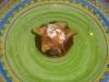 Cabillaud en papillotte de poireau-sauce curry/coco - dessert figues à la vapeur