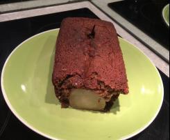 Cake noisette et poire pochées