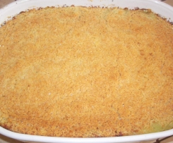 Crumble courgettes menthe basilic