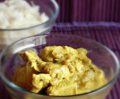 Curry de dinde au lait de coco et au citron